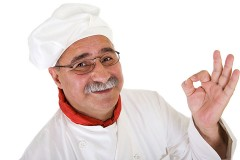 a smiling Italian chef